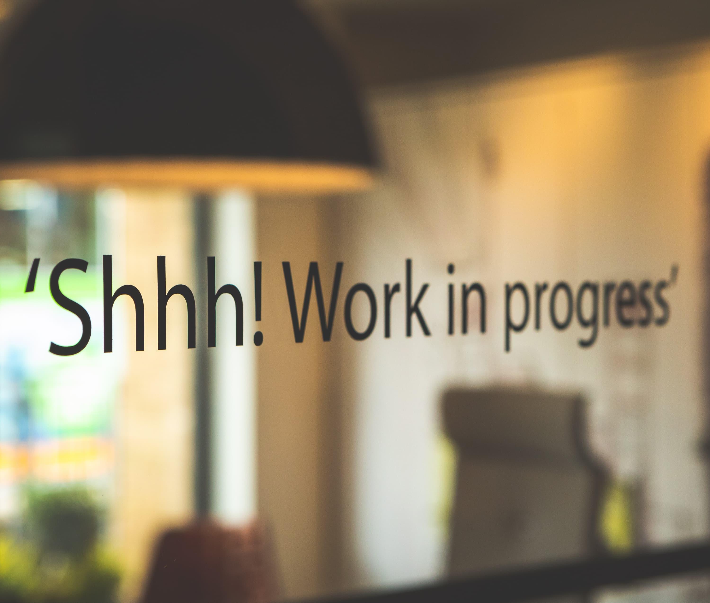 Office glass door slogan manifestation