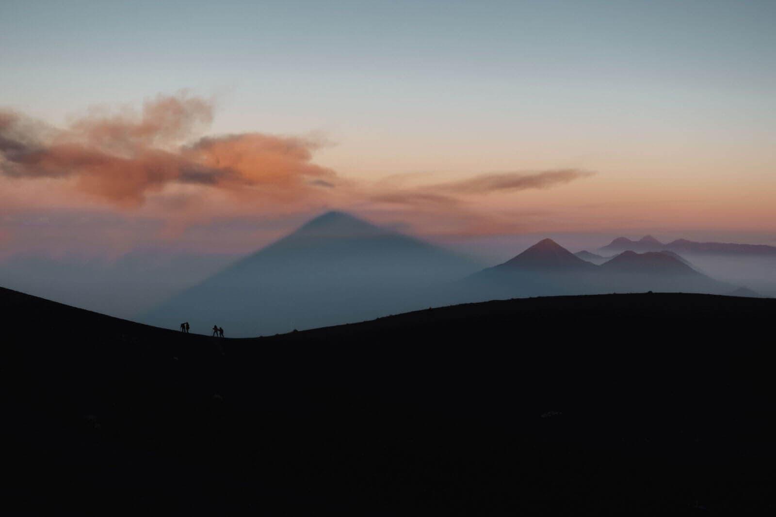 Acatenango Summit Hiker Silhouette