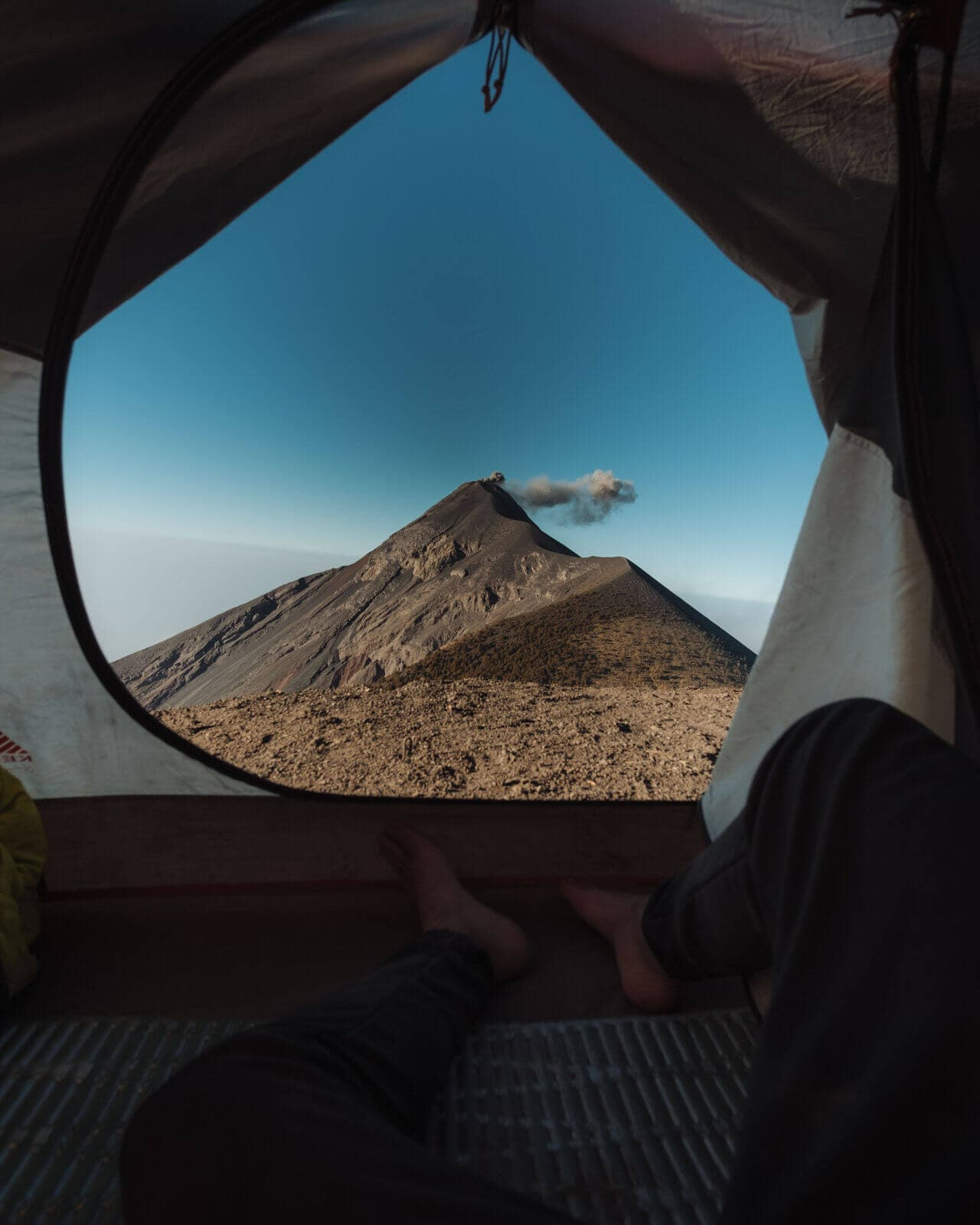 Acatenango Tent Fuego View