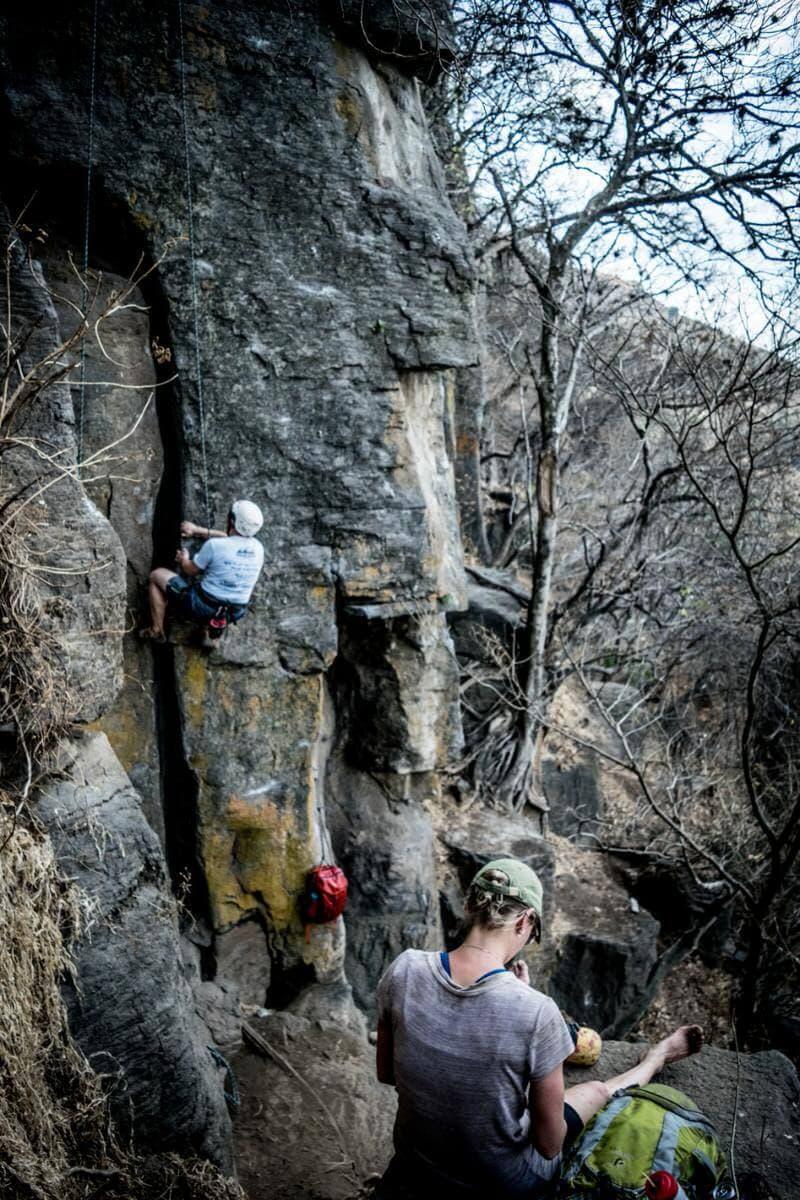 Amatitlan Rock Climbing Setup