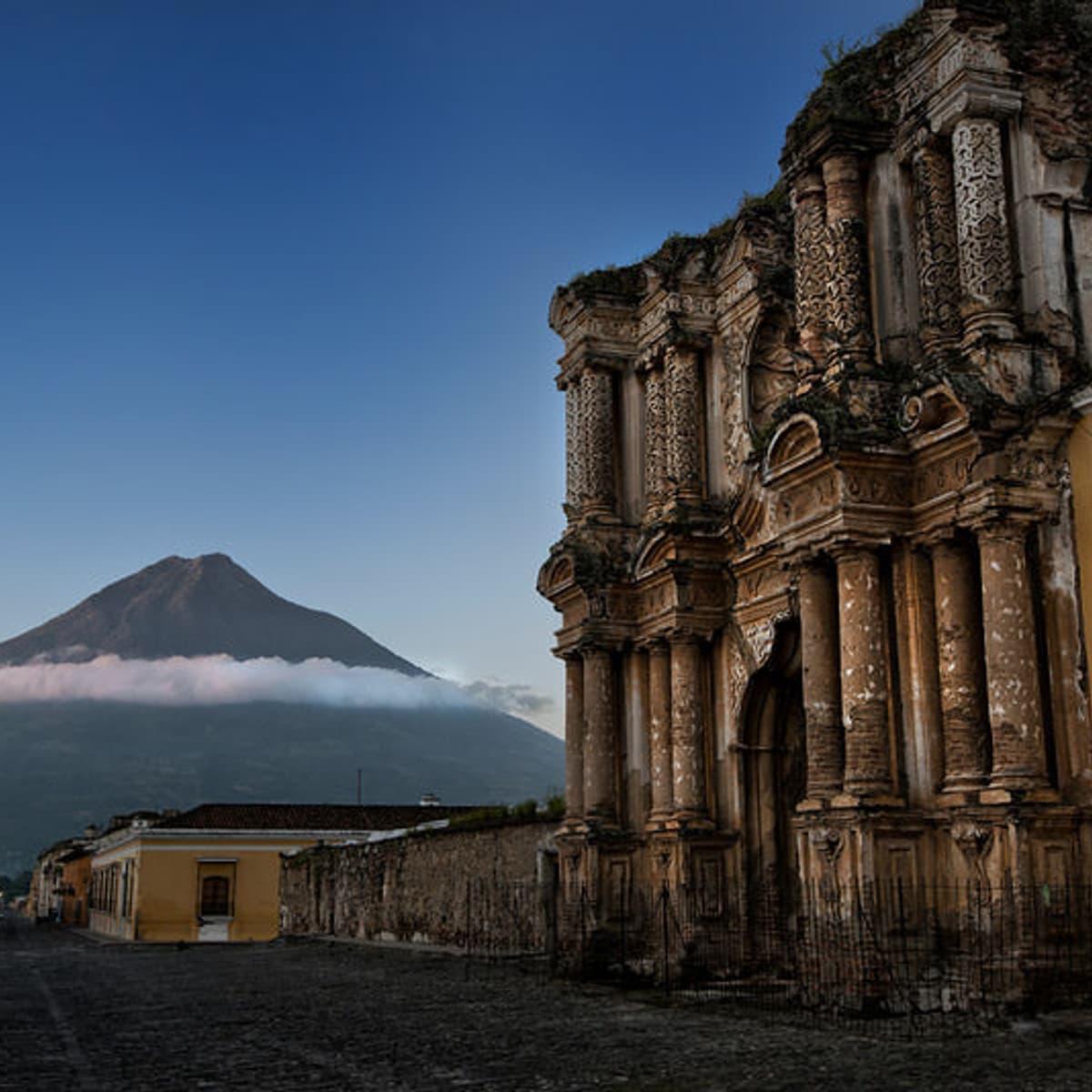Antigua Ruins Agua Volcano