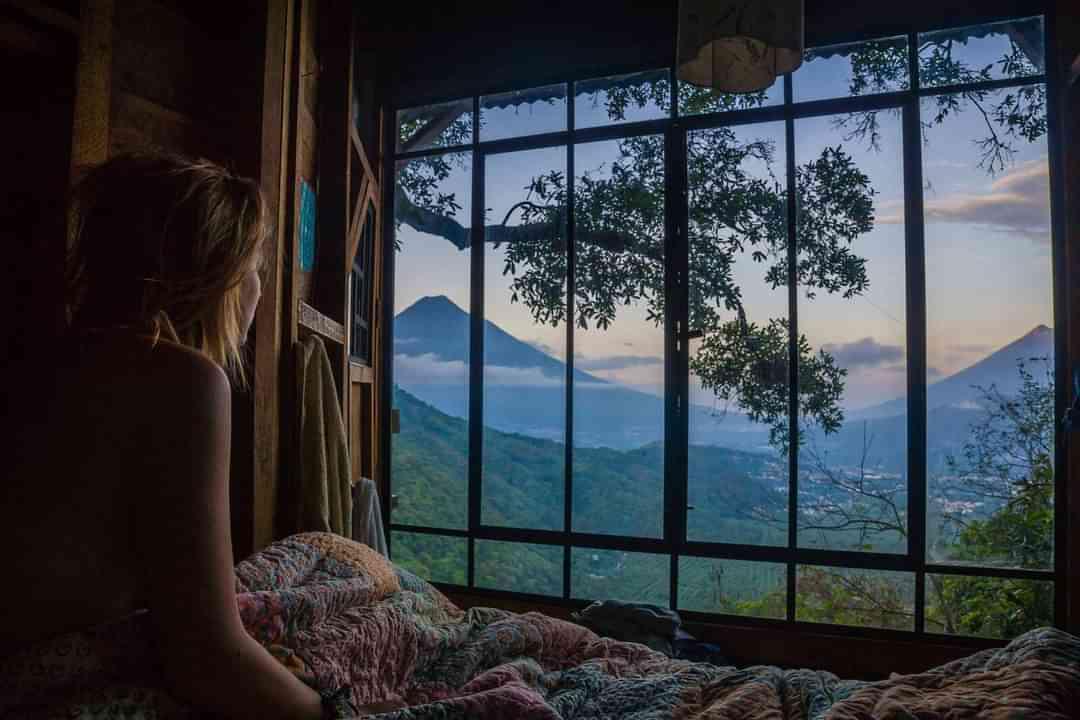 Earth Lodge Cabin View