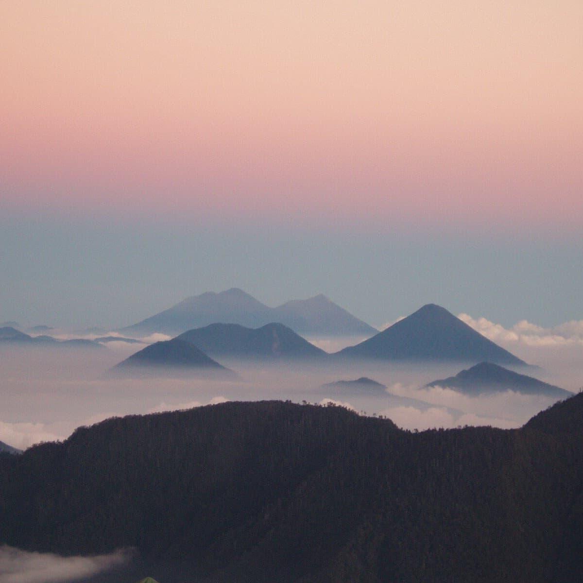 Guatemala Volcanoes Horizon