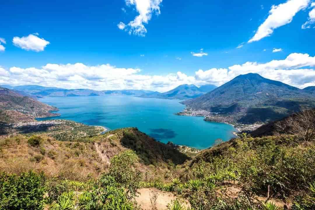 Lake Atitlan Aerial View