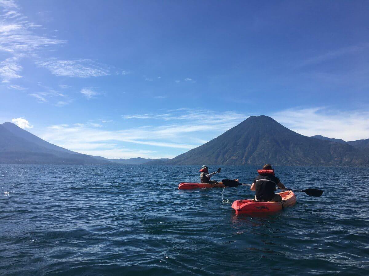 Lake Atitlan Kayak volcanoes