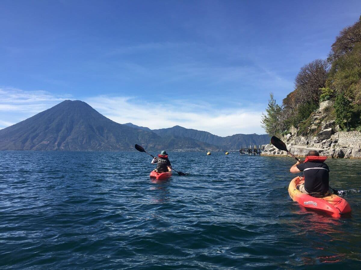 Lake Atitlan Kayak volcanoes3
