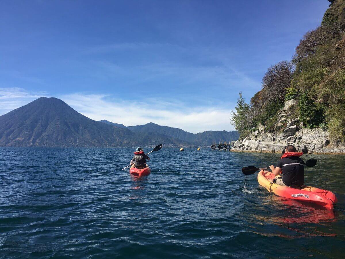 Lake Atitlan Kayak volcanoes4
