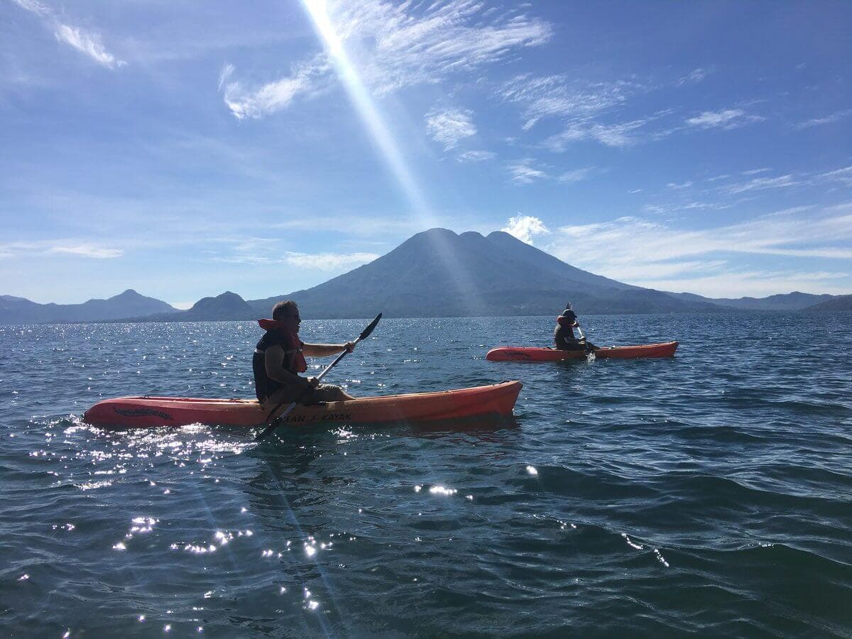 Lake Atitlan Kayak volcanoes6