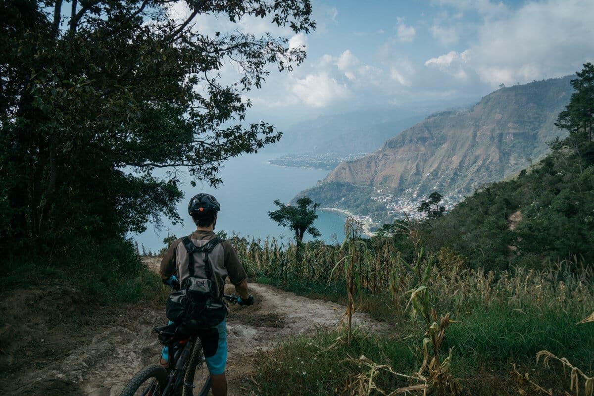 Lake Atitlan Mountain Bike Trail views
