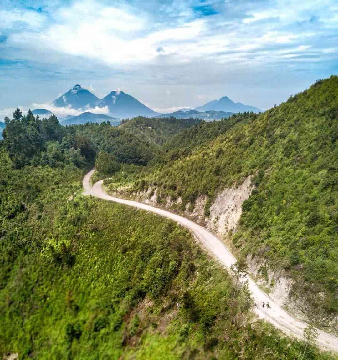 Mountain Biking tour in Guatemala riding singletrack through Volcanoes mountains