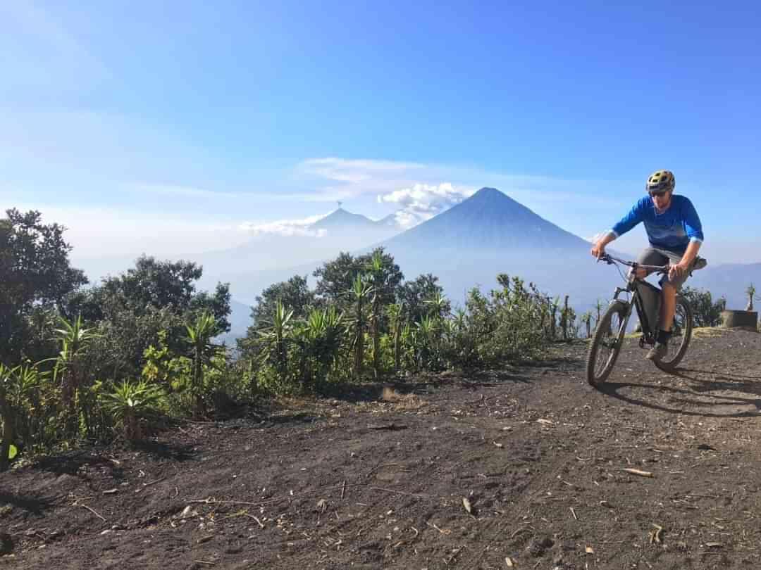 Pacaya bikepacking volcano view Medium