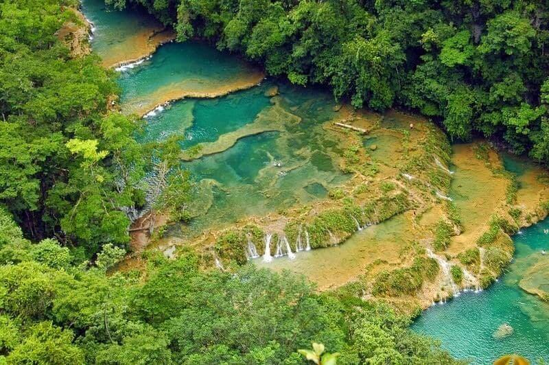 Semuc Champey Waterfalls Aerial Lookout