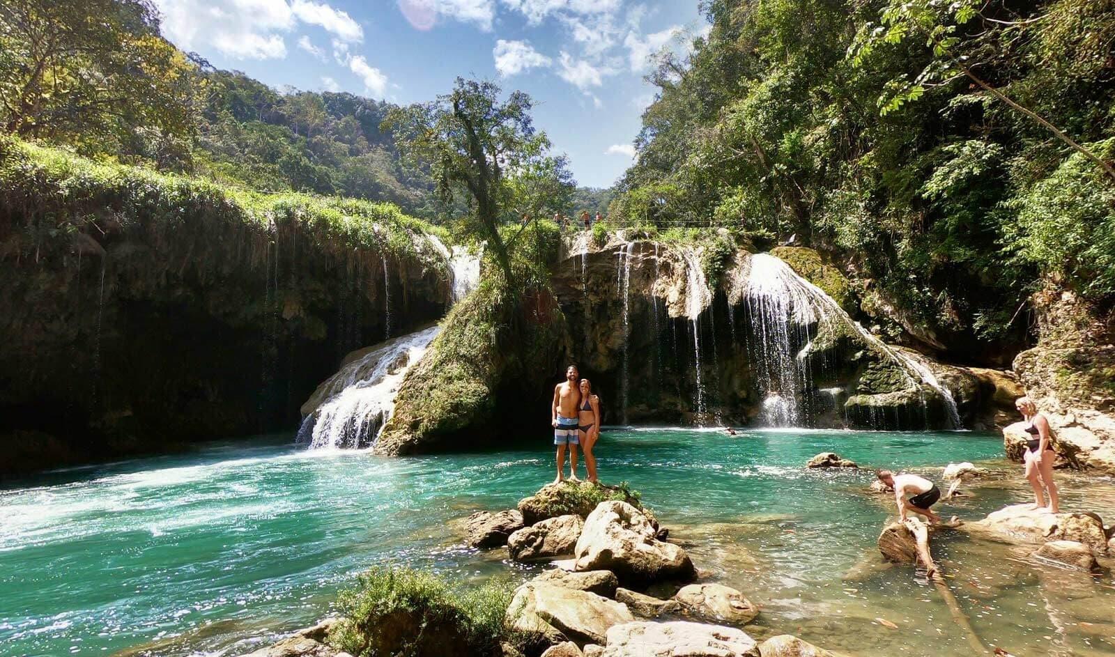 Semuc Champey Waterfalls Couple