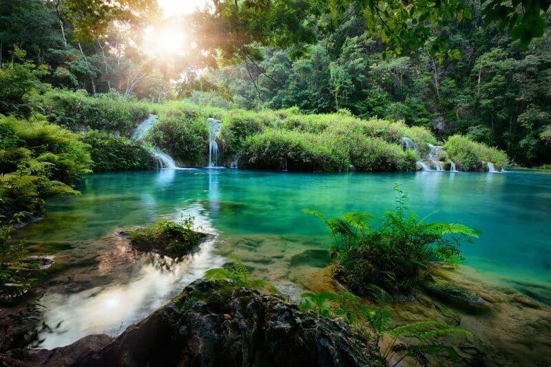 Semuc Champey Waterfalls Sunset