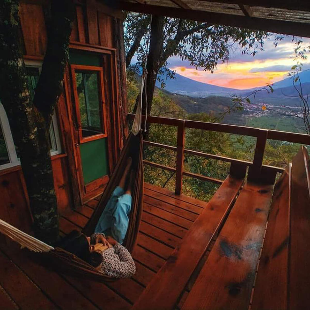 Earth lodge cabin in Guatemala on tailored itinerary