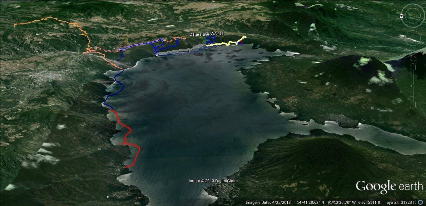 Elevation Map of Lake Atitlán