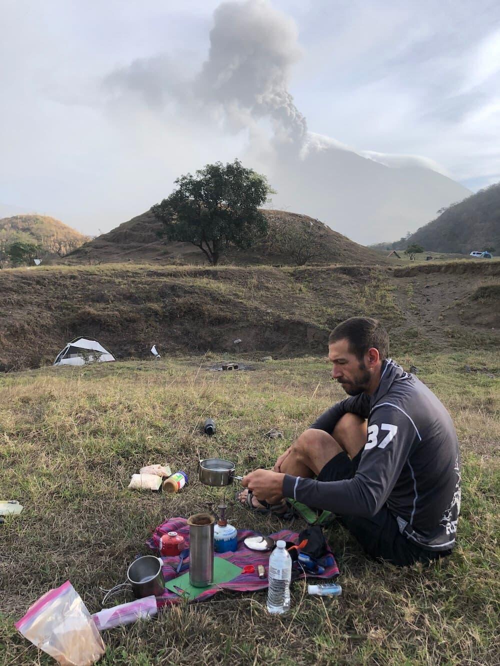 Pacaya camp breakfast