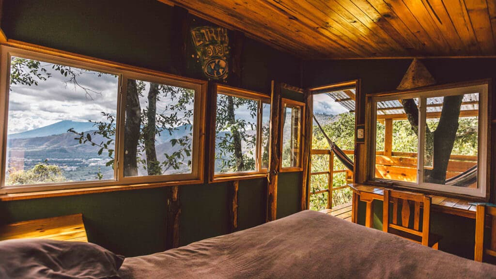 Tree house encino window earth lodge antigua guatemala