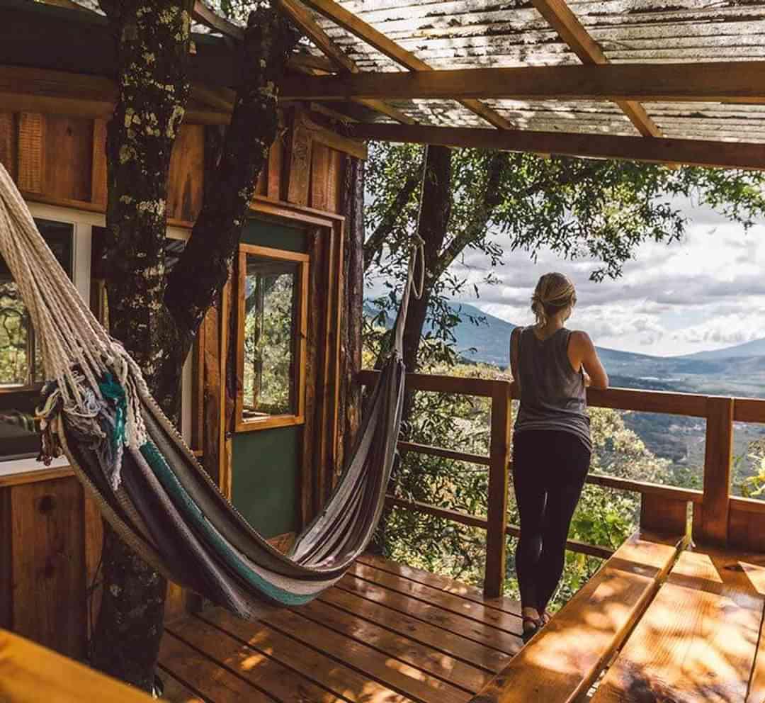 Treehouse encino balcony earth lodge antigua guatemala