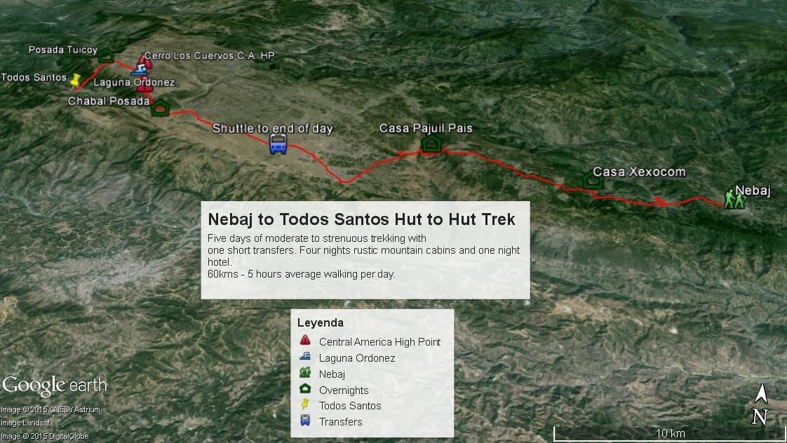 Nebaj-to-Todos-Santos-Trail-Map