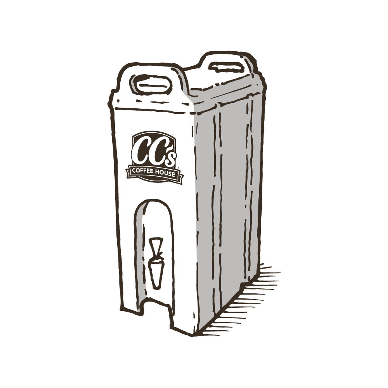 A large portable beverage dispenser