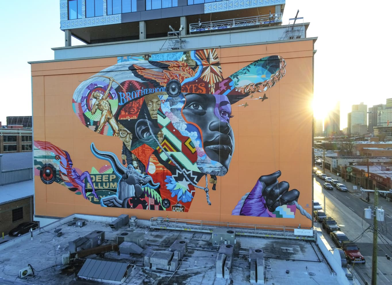Deep Ellum Mural Aerial Ryan Whitehead Ardent Owl Media 2021 11 1 2x