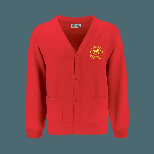 Red Sweat Cardigan