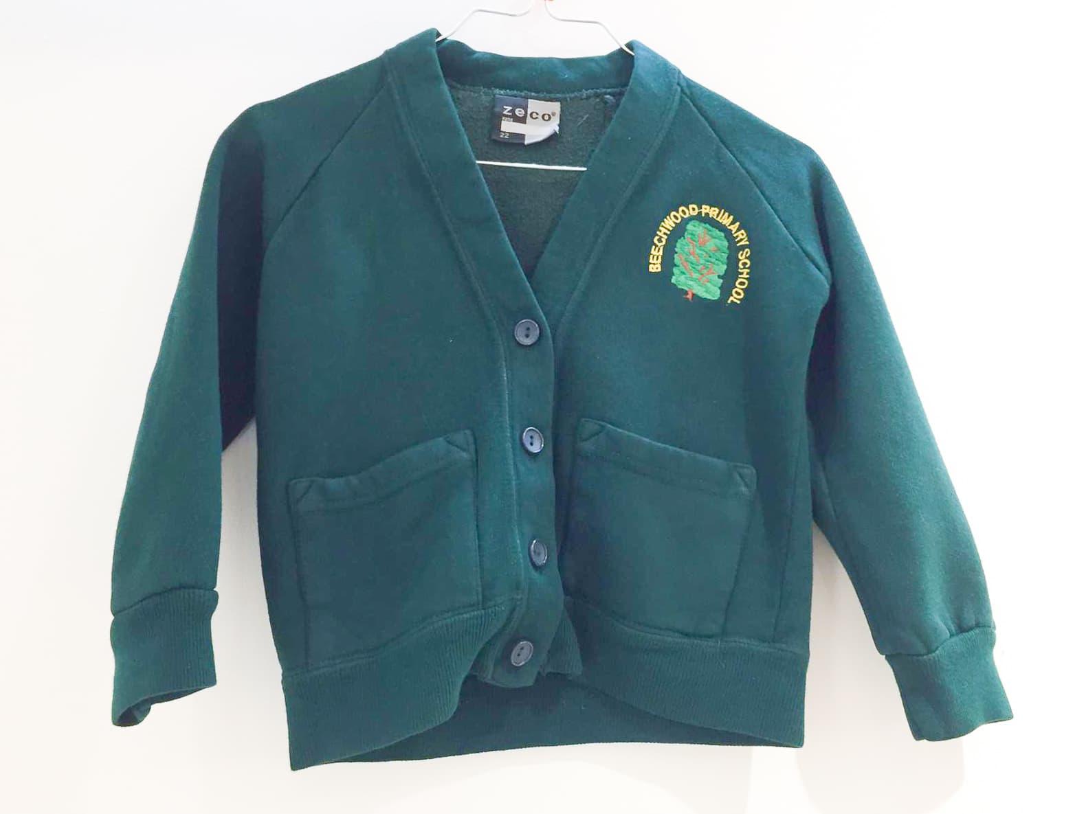 Dark Green Sweat Cardigan