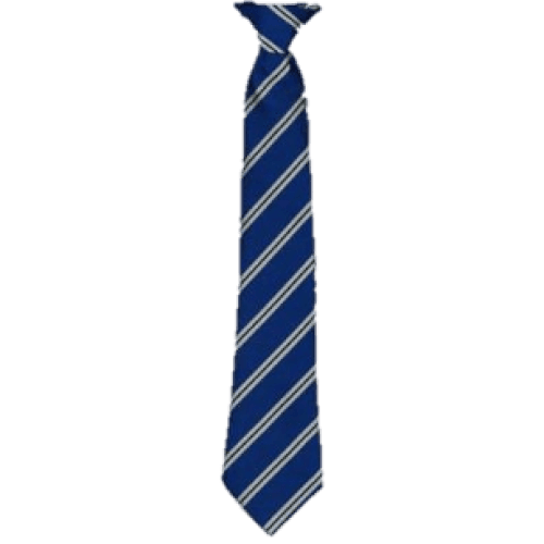Royal Blue with Silver Stripes Clip on Tie