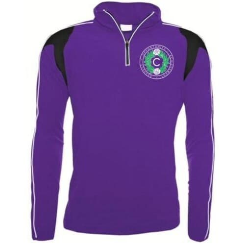 Purple 1/4 Zip Training Fleece