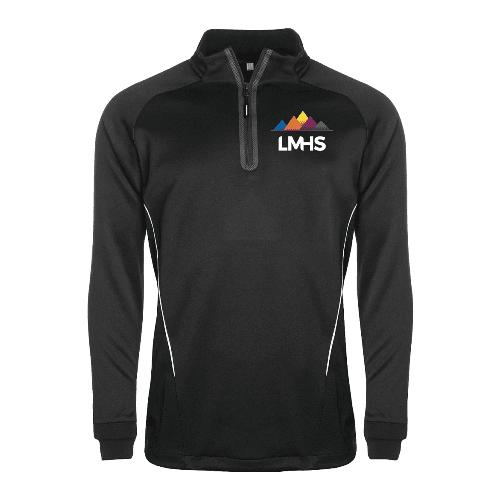 Black 1/4 Zip Sports Jacket (Boys)