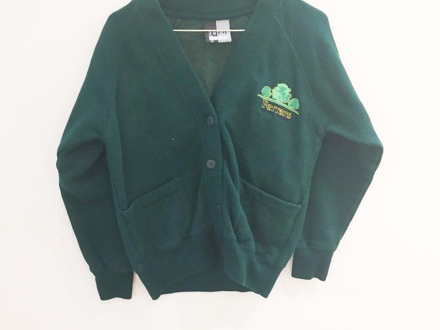 Green Sweat Cardigan