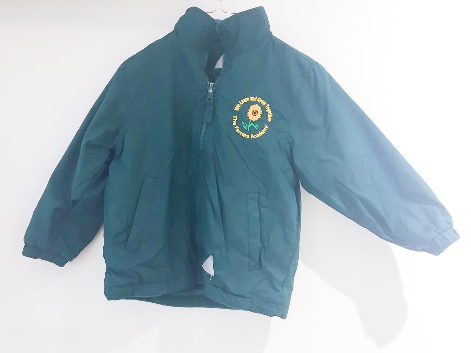 Green reversible coat