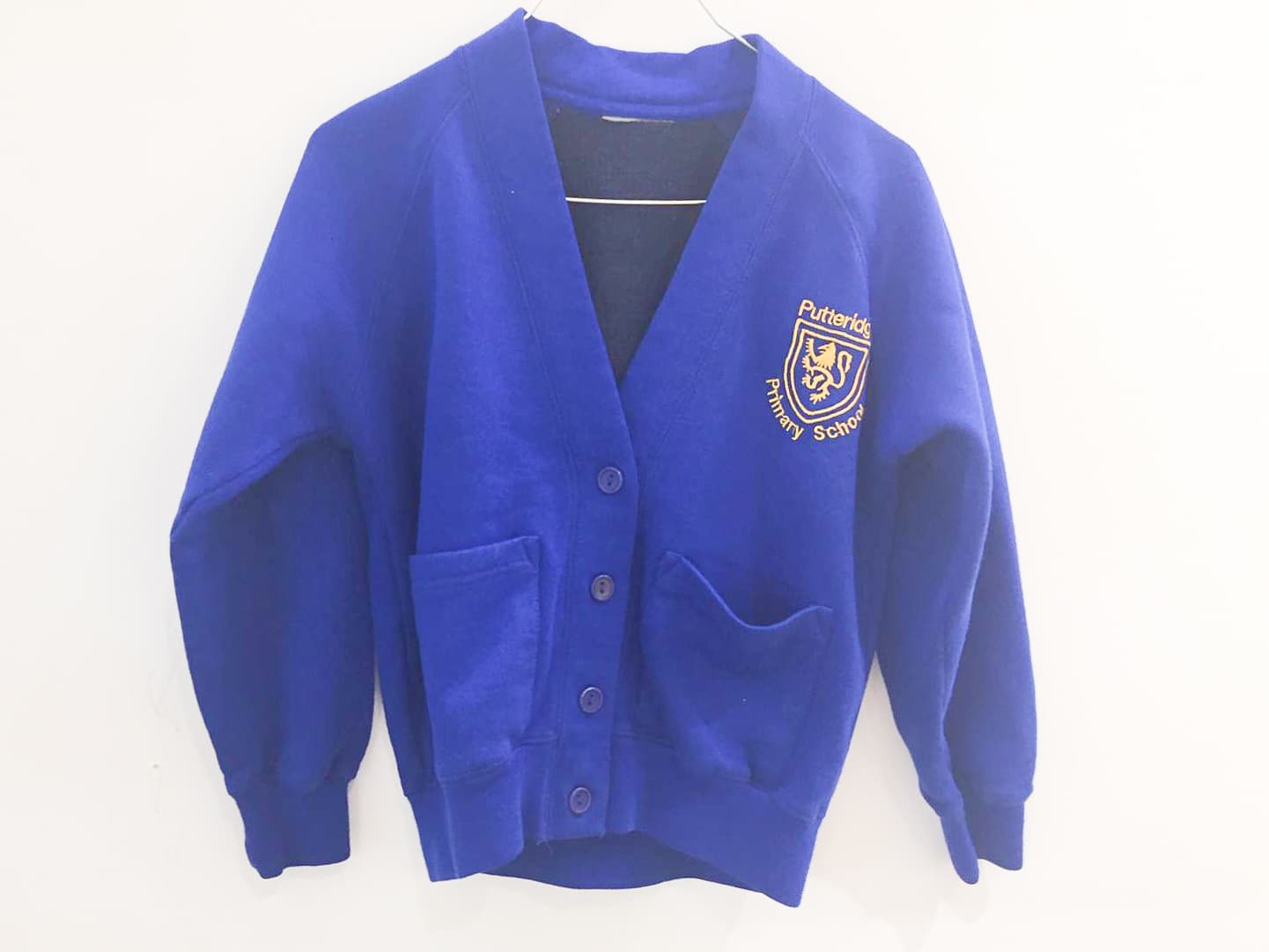 Royal Blue Sweat Cardigan