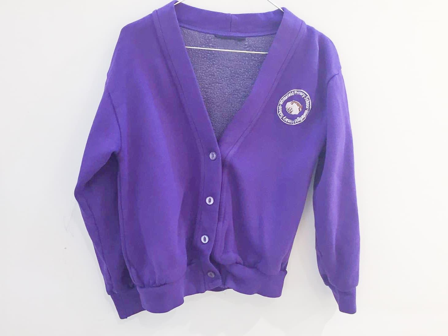 Purple Sweat Cardigan